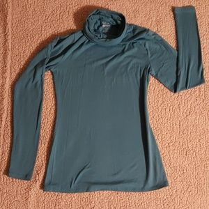 Turquoise turtle neck top